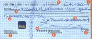 Como preencher um cheque
